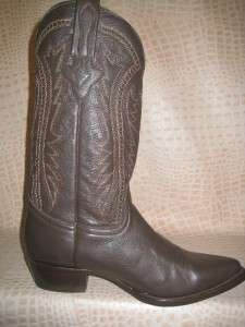 New Mens 2011 Chocolate Brown Leather Western Cowboy Boots