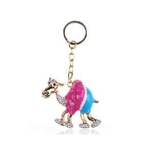 Polo Wearing Golfer Hump Camel Gold Tone Swarovski Crystal