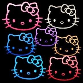 Hello Kitty CRIMSON BOW Decal Window or Wall Sticker