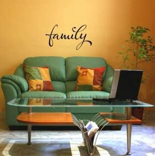 Family Vinyl Wall Saying Decal Sticker 11x20