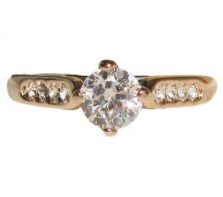NEW Swarovski crystal Rose Gold GP Ring engagement Promise christmas