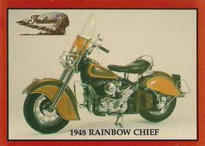 Red Rainbow Model Custom Chief Motorcycle 1952 Telescopic Forks Rare