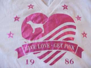 NWT Cute Victoria Secret Pink Nation Bling T Shirt L Lot 10 T Shirts