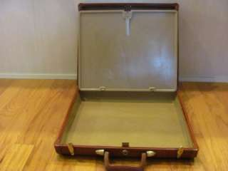 FABULOUS VINTAGE SAMSONITE BROWN LEATHER BRIEFCASE w INSIDE SECURITY