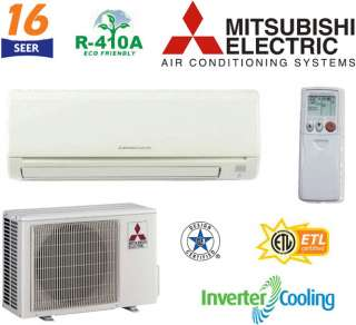 30000 BTU Mitsubishi MR. SLIM Ductless Mini Split Air Conditioner   2