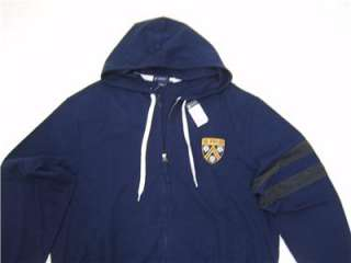 Daniel Cremieux Mens XL Polo Hoodie SWEATSHIRT Jacket ZIP Coat Navy