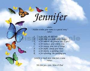 Friend Daughter Granddaughter Personalized Poem Gift