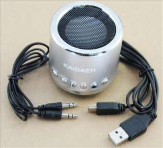 Kaidaer Portable Speaker Music Player w/fm radio Mn02 Silver