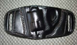 RH BELT SLIDE LEATHER HOLSTER for RUGER LCR REVOLVER 38
