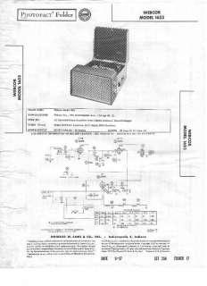Original Sams Photofact Manual Webcor 1653 Turntable