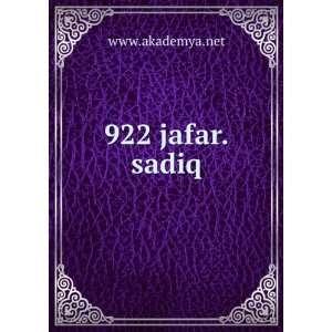 922 jafar.sadiq www.akademya.net Books