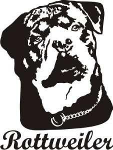 Rottweiler Dog Decal Sticker   Car Truck Laptop