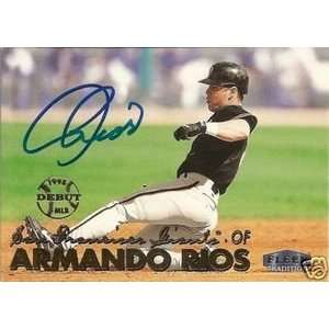 Armando Rios Signed San Francisco Giants 99 Fleer Card