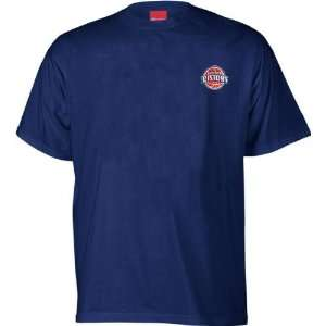 Detroit Pistons NBA Official Logo T Shirt Sports