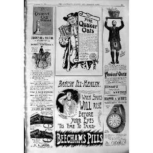 1901 Advertisement Quaker Oats Beechams Pills Canadian