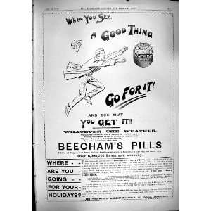 1900 Advertisement Beechams Pills St. Helens Lancashire