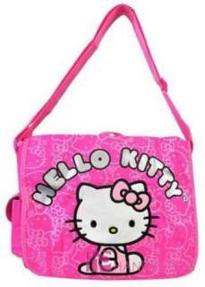 KITTY MESSENGER BAG TOTE SLING SHOULDER SCHOOL BOOKBAG PINK