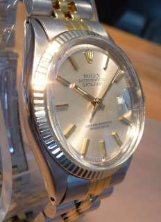 ROLEX OYSTER PERPETUAL DATEJUST 14k/ss TWO TONE STANLESS & GOLD MENS