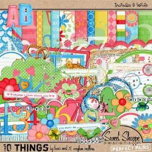 Digital Scrapbooking Kit: 10 Things by Traci Reed & Meghan