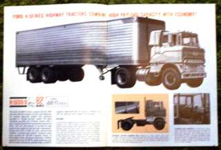 1964 Ford Trucks Diesel Powered Single Axle Brochure 64
