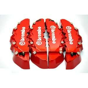 Red Brembo Style Universal Disc Brake Caliper Covers 4pcs