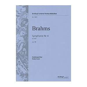 Nr.4 e moll op.98, Partitur (9790004201275): Johannes Brahms: Books