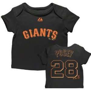 Buster Posey San Francisco Giants Newborn Black Name and