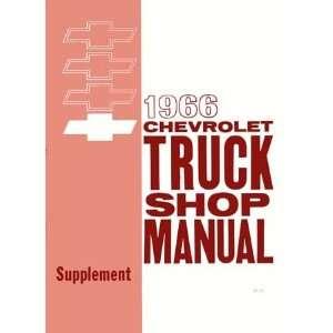 1966 CHEVY PICKUP TRUCK Shop Service Repair Manual Book