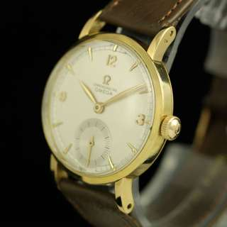 OMEGA 30T2 RG CHRONOMETER 18K SOLID YELLOW GOLD MENS WATCH