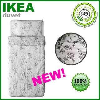 Ikea duvet cover pillowcase cotton damask flora vines