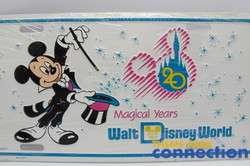 Walt Disney World 20 Magical Years 1991 WDW Anniversary License Plate