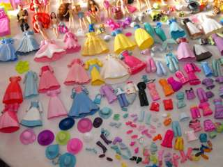 HUGE Polly Pocket Disney Princess LOT Shoes Clothes Car Case Prince