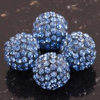 Colour Czech Crystal Disco Ball Beads Fit DIY Charm Bracelets