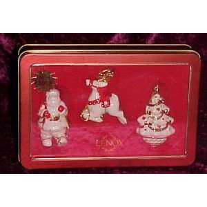 Lenox Fine China 2003 Collectible Christmas Ornament Set