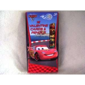 Disney Cars 2 16 Valentine Cards and Pencils Toys & Games