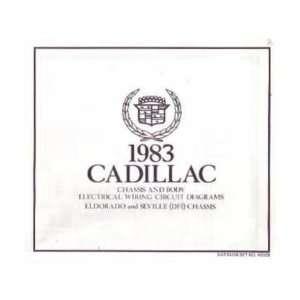 1983 CADILLAC ELDORADO SEVILLE Wiring Diagrams: Automotive