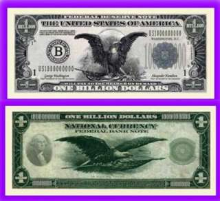 Billion Dollar Bill Novelty Fake Play Money