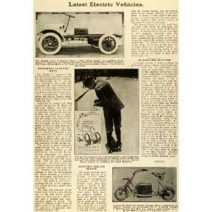 1920 Article Antique General Electric Vehicles Dr. Charles