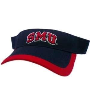 METHODIST MUSTANGS SMU NAVY BLUE RED VISOR HAT CAP LICENSED GAME