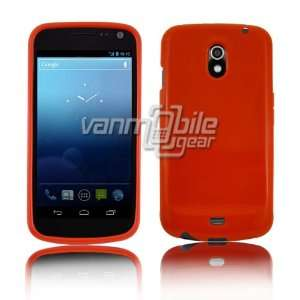 TPU Skin Case Cover 3 ITEM COMBO PACK Bright Orange Red Solid Color