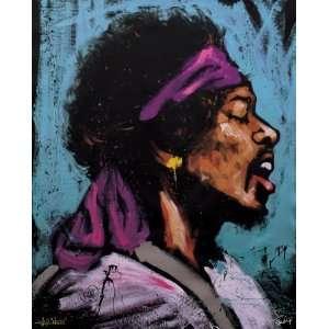 Jimi Hendrix   Bandana by David Garibaldi, 40x50