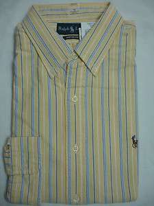 Polo Ralph Lauren Sport Shirt Custom Fit Oxford Yellow