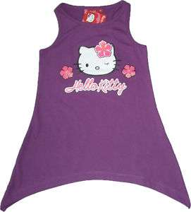 NWT Sanrio Hello Kitty Baby Girls Dress Top (Pu) 2 8Y