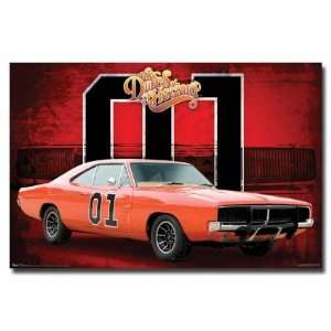 THE DUKES OF HAZZARD POSTER General Lee   Car 01 NEW:  Home
