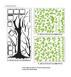 BIG Memory Tree DIY Decorative Vinyl Art Decal Stickers