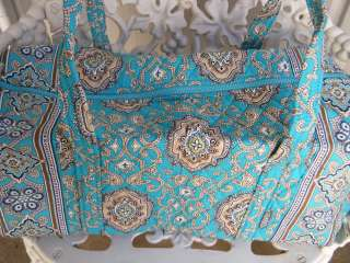 VERA BRADLEY Small Duffel Bag TOTALLY TURQ Retired, New with Tags