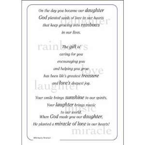 Daughter 5 x 7 Poem For A Page Sticker VERSE164