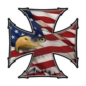 Cross Decal American Flag Eagle   12 h   View Thru Everything Else