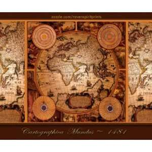 Old World Map Art   1481 Mouse Pads Office Products