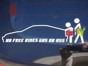 Honda CRX No Free Rides Vinyl Decal Sticker jdm ef